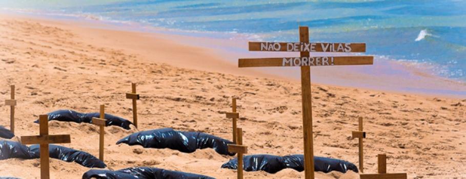 Protesto marca dia mundial de limpeza na Bahia